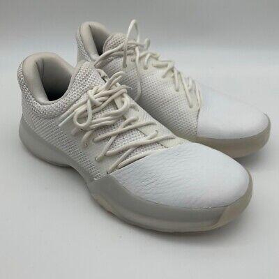 Adidas Mens Harden Vol 1 Basketball Shoes White Low Top Sneakers BW1110 6.5 New