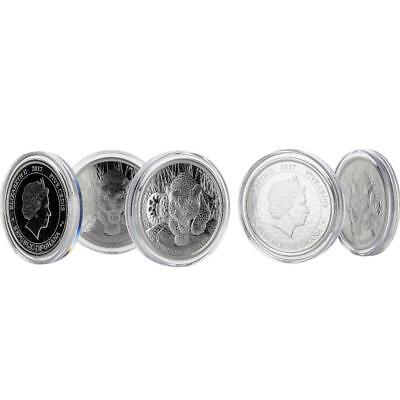 5 x 2017 1 oz Ghana Leopard .999 Silver Coins BU Proof-like #A436