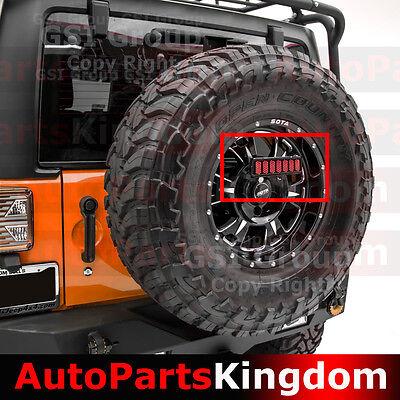 3rd Brake LED Light Smoke Lens w/Spare Tire Bracket For 07-18 Jeep JK Wrangler