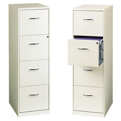 4 Drawer File Cabinet White 18 Built-in Lock Letter File Cabinet Vertical