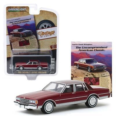 GREENLIGHT 39030 F 1986 CHEVROLET CAPRICE BROUGHAM VINTAGE AD CAR DIECAST 1:64 Chevrolet Caprice Brougham