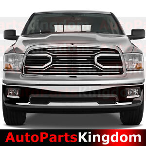 09 12 Dodge Ram 1500 Horn Chrome Packaged Grille Shell Replacement