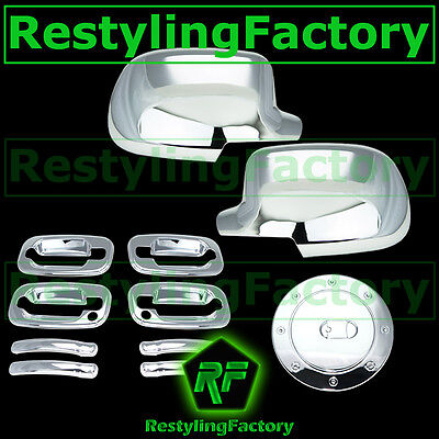 00-06 Chevy Tahoe+Suburban Chrome Full Mirror+4 Door handle+PSG KH+Gas Cover ()