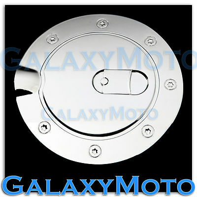 Chrome ABS Fuel Gas Tank Cap Door Cover Trim For 05-09 Ford Mustang