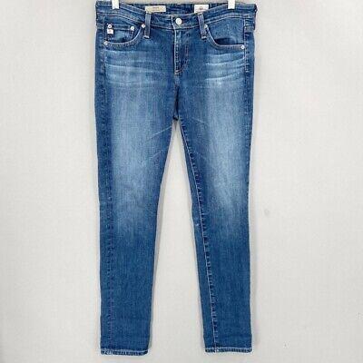 Ag Adriano Goldschmied Womens Stilt Skinny Cigarette Leg Jeans Blue Pockets 28 R