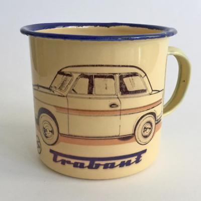 Tasse Kaffeebecher Keramiktasse Kaffeetasse mit Print Trabant 57384 weiß