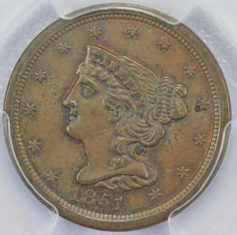 1851 Braided Hair Half Cent PCGS MS63BN - *DoubleJCoins* 2006-15