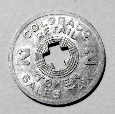 Vintage Old Antique Colorado Retail State Sales Tax Token Coin CO 2 Mill