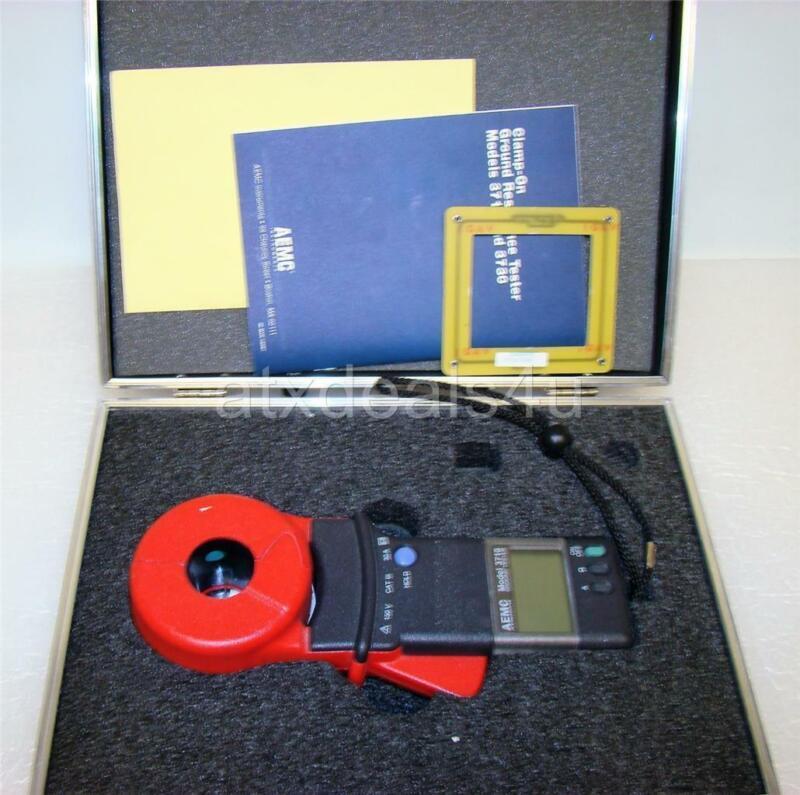 AEMC 3710 Clamp On Ground Resistance Tester W/ Case