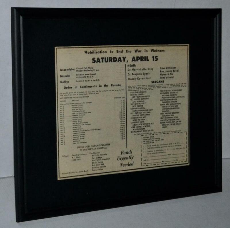 MARTIN LUTHER KING JR RARE 1967 CIVIL RIGHTS WAR PROTEST CENTRAL PARK SPEECH AD