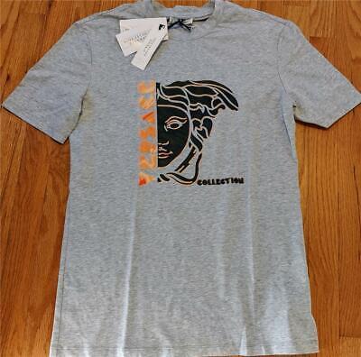 Mens Authentic Versace Collection Medusa Head T-Shirt Melange Gray Medium $275