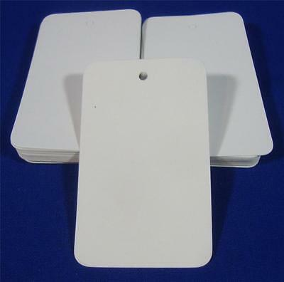 100 White Unstrung Blank Garment Merchandise Price Tags Sm