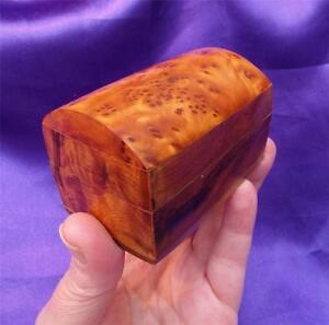 Stunning BURR WOOD Lidded JEWELLERY/TRINKET / SNUFF BOX / CHEST Art Deco Design