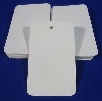 1000 White Unstrung Blank Garment Merchandise Price Tags Large