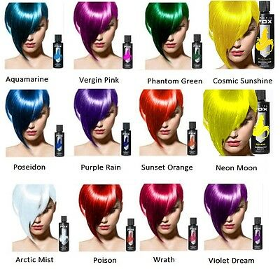 """ARCTIC FOX"" 4 oz or 8 oz VEGAN SEMI-PERMANENT HAIR DYE BRIGHT VIBRANT COLORS"