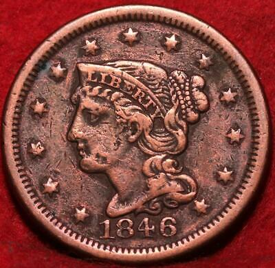 1846 Philadelphia Mint Copper Braided Hair Large Cent