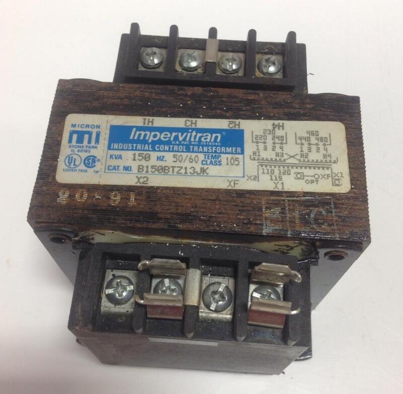 MICRON IMPERVITRAN 150KVA CONTROL TRANSFORMER B150BTZ13JK *PZB*