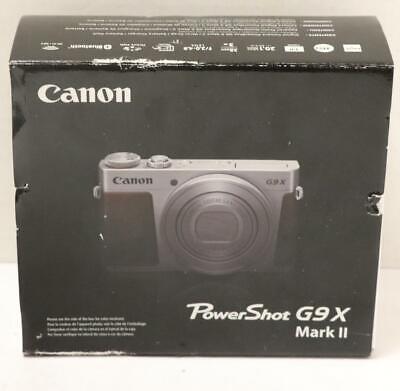 NEW - Canon PowerShot G9X Mark II 20.1MP Digital Camera - Black