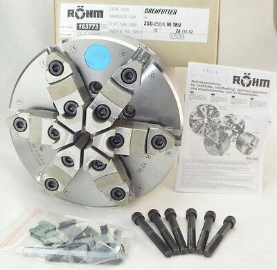 Rohm 10 6 Jaw Self Centering Adjustable Lathe Chuck 163773 Zsu Hi-tru 3675
