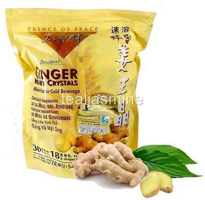 Prince of Peace Instant GINGER HONEY CRYSTAL Hot or Cold Beverage 30 Bags of 18g - Ginger Honey Drink
