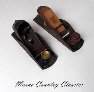 2 Vintage STANLEY BLOCK PLANES NO. 9 1/4 and 110 Carpenters Woodworking Tools