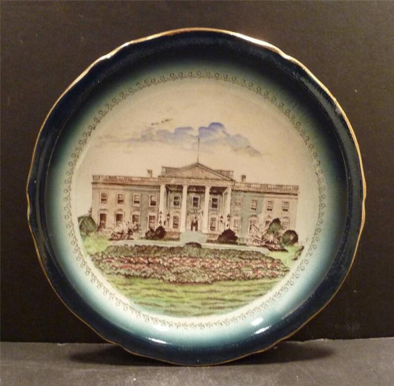 "Buffalo Pottery Commemorative White House Plate, 7 1/2"" - MINT"