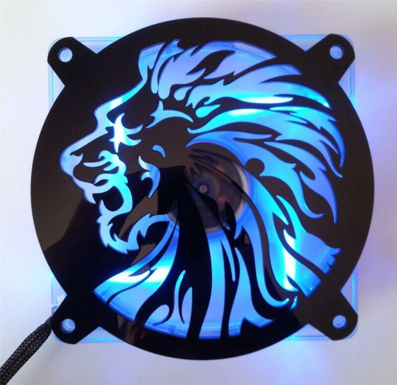 Custom 140mm LION HEAD Computer Fan Grill Gloss Black Acrylic Cooling Cover Mod