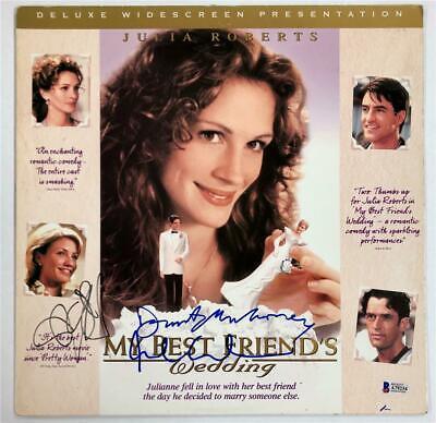 MY BEST FRIEND'S WEDDING Cast Signed LaserDisc Cover ~ Beckett BAS COA ~ Diaz