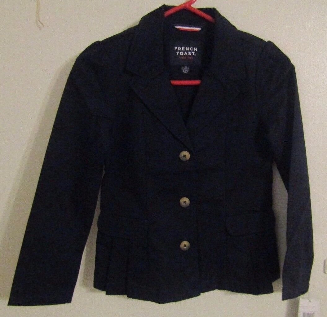 Купить French Toast - French Toast Girls School Uniform Blazer Jacket Navy W/ Gold Buttons Size 12 NWT