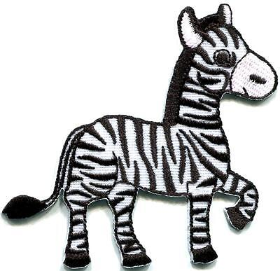 Wild Zebra (Zebra african equid wild horse safari wildlife applique iron-on patch new)
