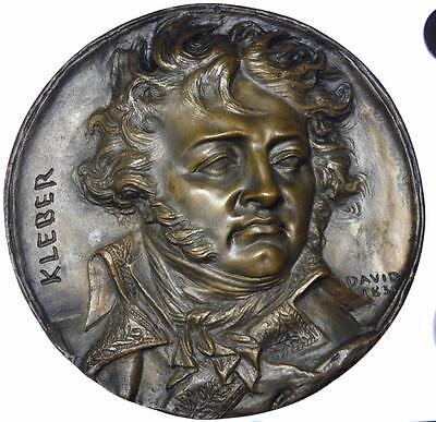 France - Kleber 1831 Napoleonic plaque by David d'Angers Eck et Durand foundry