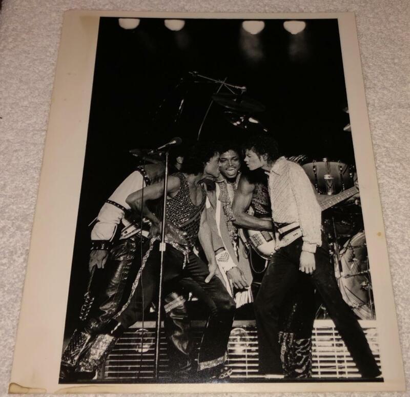 The Jackson 5 Photo-Michael Marlon Randy 8x10 1984 Bev Davies vtg orig soul r&b
