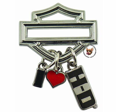 Bar and Shield I Heart Harley Davidson Dangle Pin  Discontinued  Heart Bar Pin