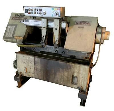 Clausing C350a Horizontal Band Saw 230 Volts 5 Hp