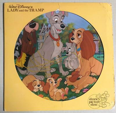 LADY AND THE TRAMP DISNEY PICTURE DISC DISNEYLAND 3103 1980