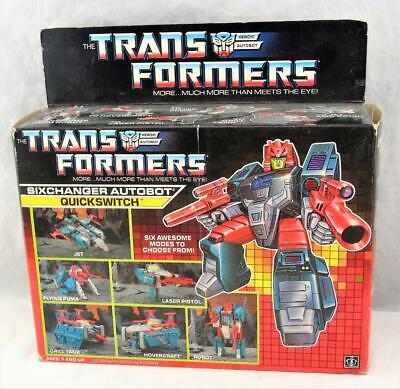 Transformers Original G1 1988 Six Changer Quickswitch Complete with Box