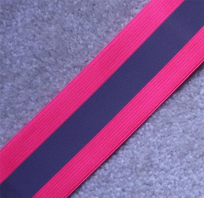 Elastic Silver Pink Sew On Reflective Tape 1 Yardx2