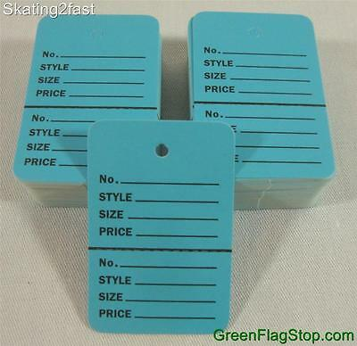 100 Blue Unstrung Coupon Garment Merchandise Price Tags Small