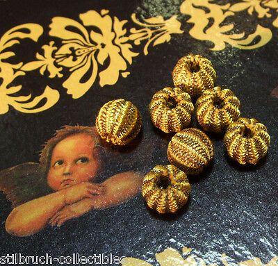 Antique Vintage Gold Metal Passementerie Bobble Tassel Lace Button per bobble, used for sale  Shipping to United States