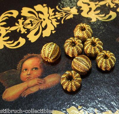 Antique Vintage Gold Metal Passementerie Bobble Tassel Lace Button per bobble for sale  Shipping to United States