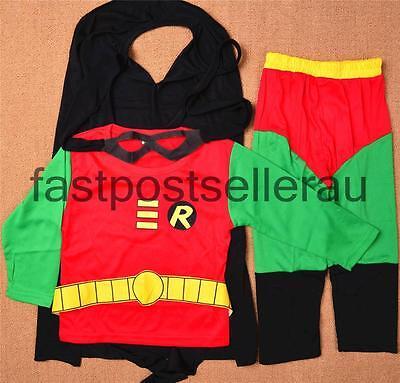 Robin Kinder Kostüme (Batman Robin Boys Kids kostüm kinder outfit halloween party kleid 2-7 jahre)