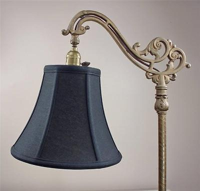 Bridge Floor Lamp Shade Deluxe Bell Fine Linen Black Tailor Made Lampshades