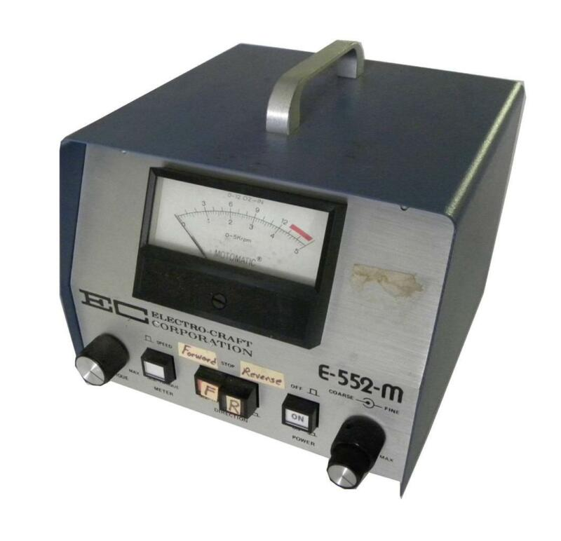 Electro-craft Motomatic Speed Controller Model E-552-m (2 Avail.) - Sold As Is