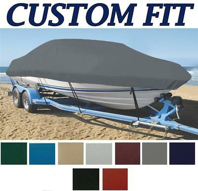 9oz CUSTOM EXACT FIT BOAT COVER CAROLINA SKIFF 2480 DLX 2004-2014 w/o T-Top