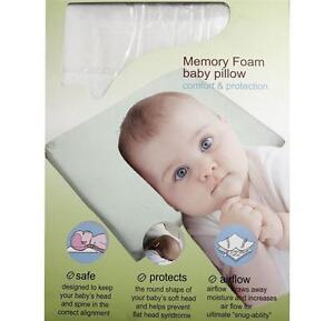 MEMORY FOAM BABY INFANT CHILD PILLOW SLEEPING HEAD SUPPORT ANTIFLAT HEAD CUSHION