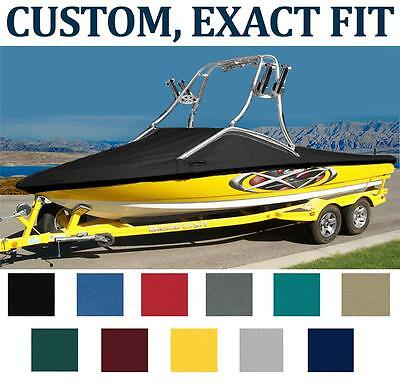 7OZ CUSTOM BOAT COVER MB SPORTS F21 TOMCAT W/2-POINT COLLAPSIBLE TOWER 2013