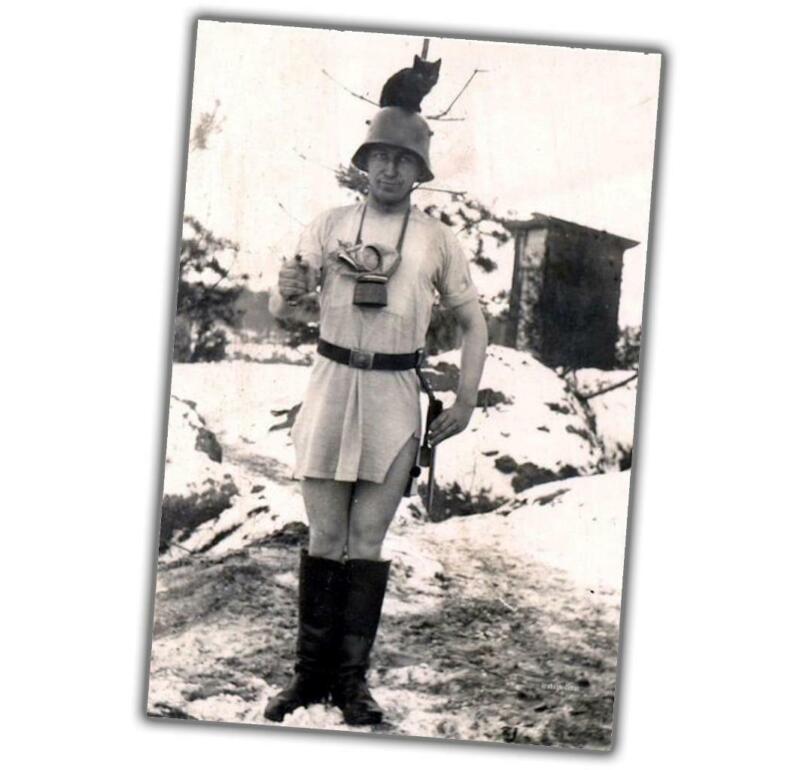 strange photo of a German soldier War Photo WW2 4x6 S