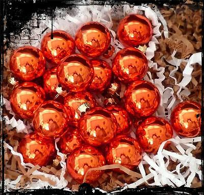 12 Firecracker Lacquer Red/Orange Glass Halloween Christmas Ornaments 1.25 inch