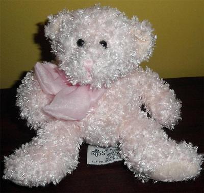 RUSS Bubbles Pink Bear Plush Stuffed Animal Toy