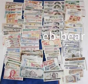 Lots 100pcs Different World Paper Money 30 countries Banknotes UNC Currency